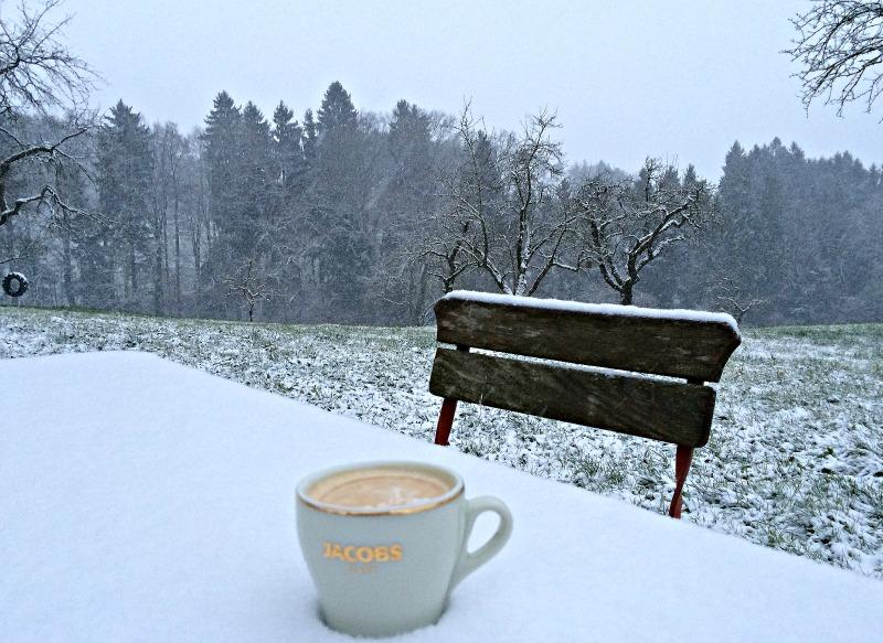 Samstagskaffee Im Schnee Juhee Finally Its Snowing