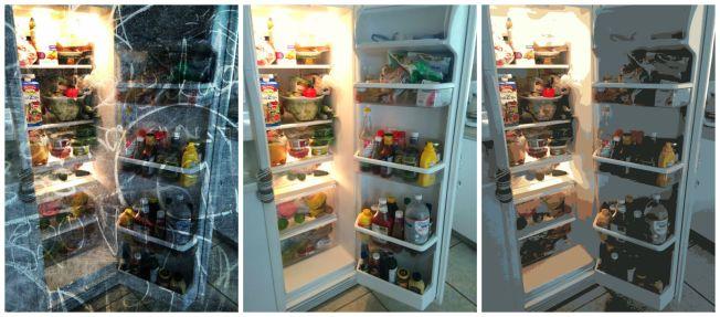 Kühlschrank-Collage