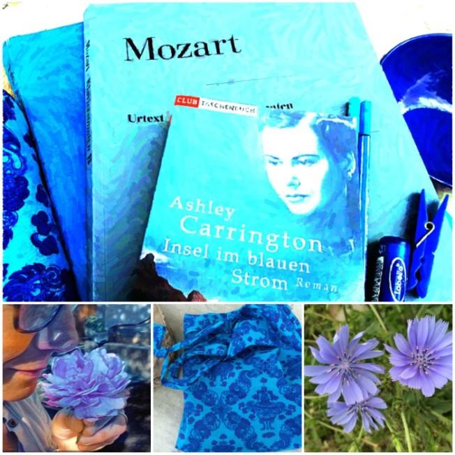 Blau-Collage