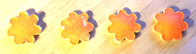 Orangenblumen