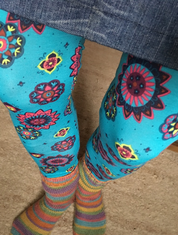 Leggingsblumig