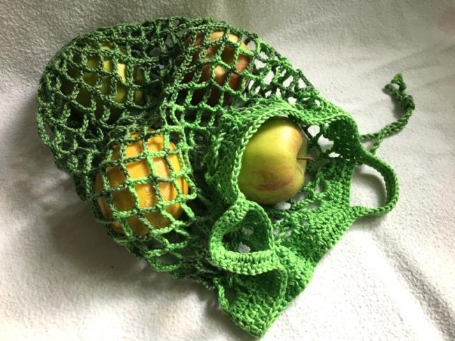 Einkaufsnetzgrün